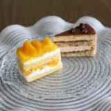 いちじくのシャルロットとオレンジのショートケーキ『IL PLEUT SUR LA SEINE(イル・プルー・シュル・ラ・セーヌ)』(5月)