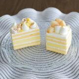 とうもろこしのショートケーキと桃のショートケーキで夏気分『LESS』(6月)